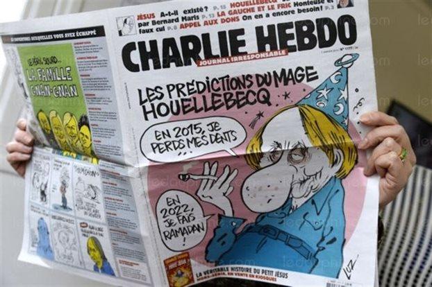 Η πρωτοσέλιδο του Charlie Hebdo