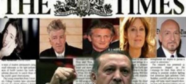 Το 2013 ήταν σε πρωτοσέλιδο των Times του Λονδίνου σε μια καμπάνια κατά του Ερντογάν