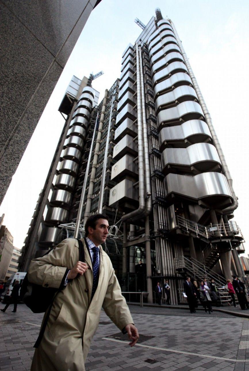 To περίφημο  κτίριο των Lloyds στο Λονδίνο (Oli Scarff/Getty Images/Ιdeal Image)