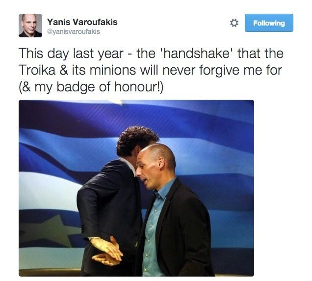 Το αγγλόφωνο και πολύ πιο αιχμηρό tweet του Γιάνη Βαρουφάκη