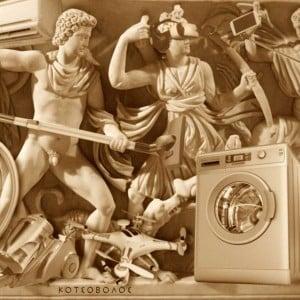 Το γλυπτό που έχει συνταράξει τον πλανήτη: Στην καθημερινή ζωή τους οι αρχαίοι Έλληνες  χρησιμοποιούσαν πλυντήρια,  air condtitions, drones, γυαλιά virtual reality, ηλεκτρικές σκούπες, μίξερ, selfie sticks, iphone και άλλα!