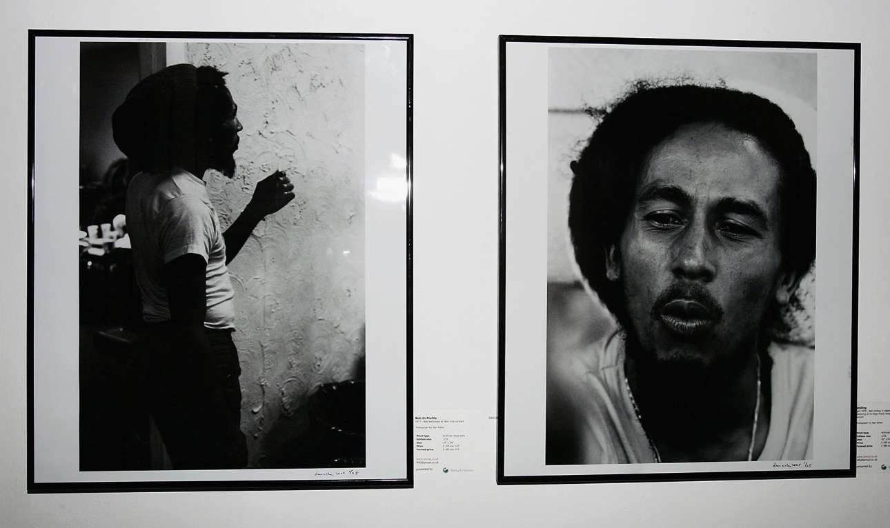Αδημοσίευτες φωτογραφίες του Μάρλεϊ σε έκθεση στο Λονδίνο τον Φεβρουάριο του 205