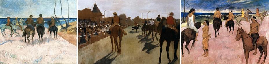 Δεξιά και αριστερά Gauguin. Στη μέση Degas