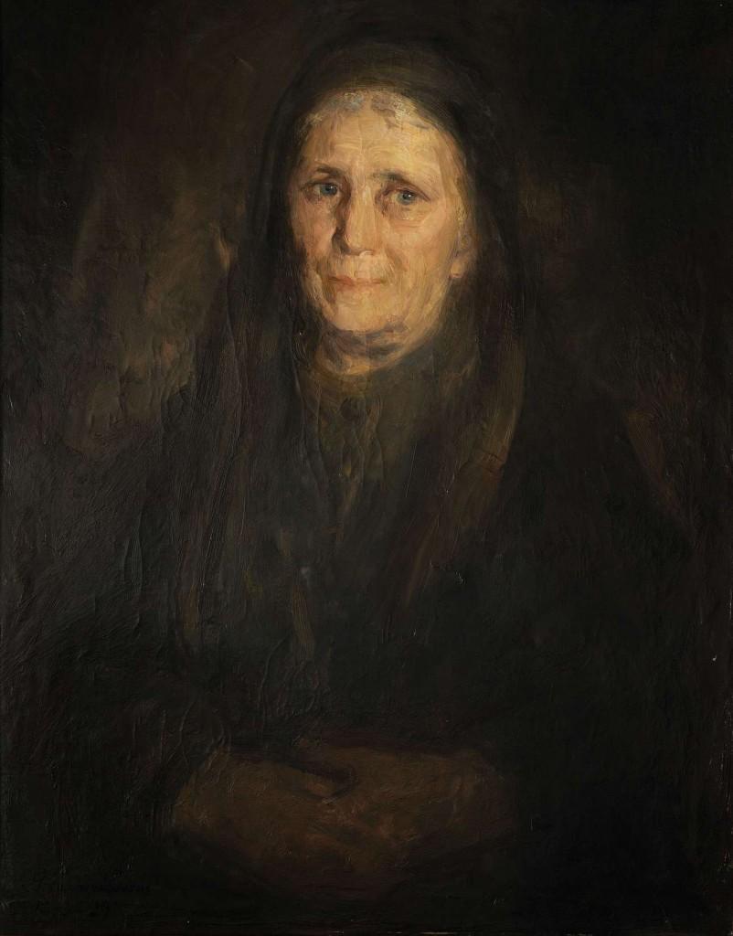 Γ.Γουναρόπουλος,Η μητέρα μου,1929,Ιδιωτική συλλογή