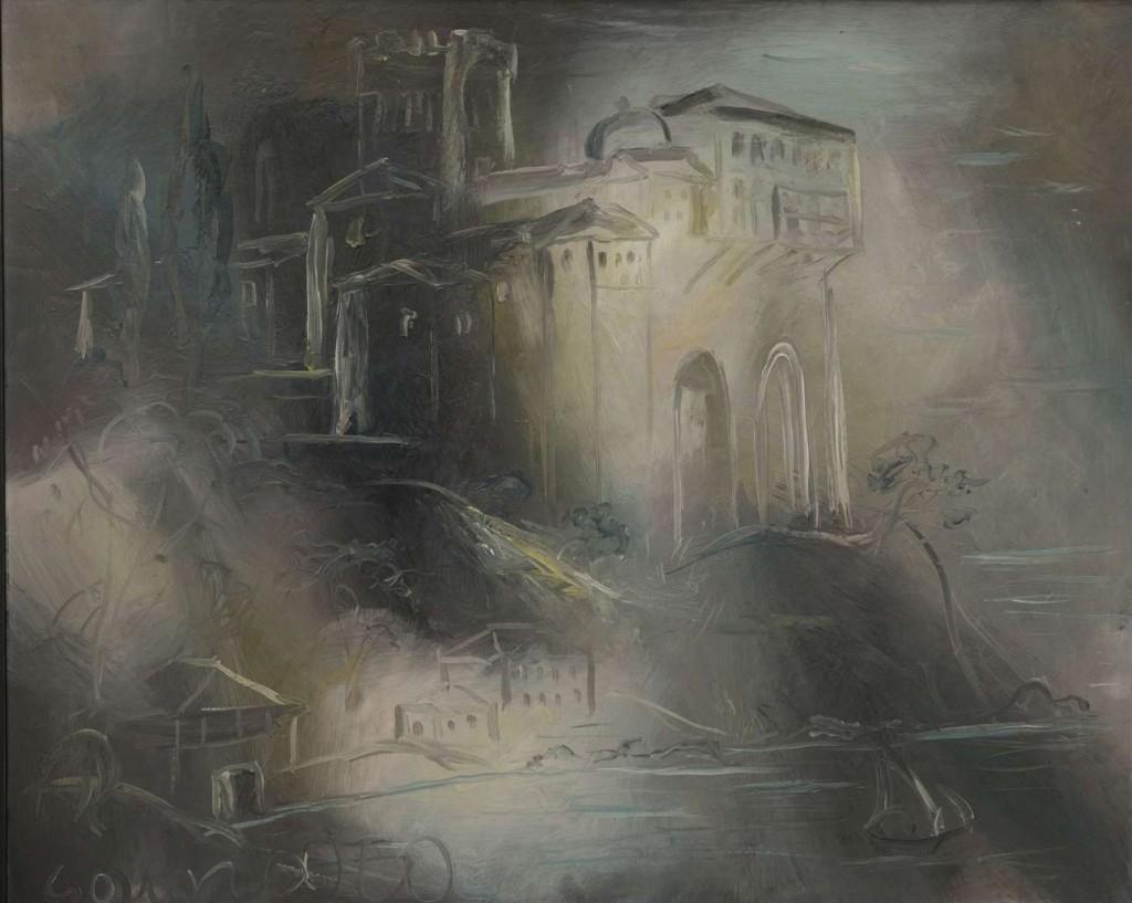 Γ.Γουναρόπουλος,Μονή Αγίου Όρους,1925,Ιδιωτική συλλογή