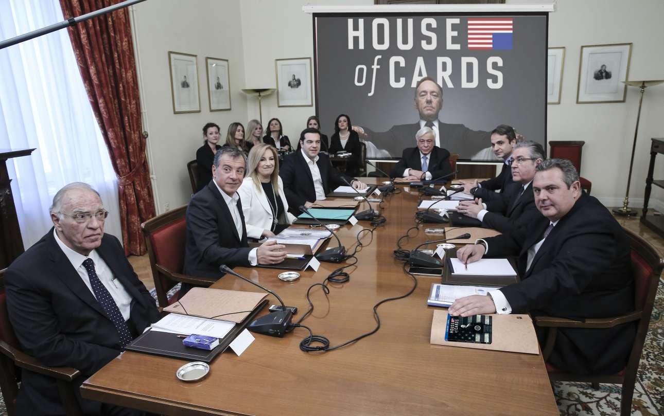 Ο Πρόεδρος της Δημοκρατίας έχει ήδη κατεβάσει για καλό και για κακό την οθόνη του προτζέκτορα, από τις πρώτες στιγμές της συνάντησης