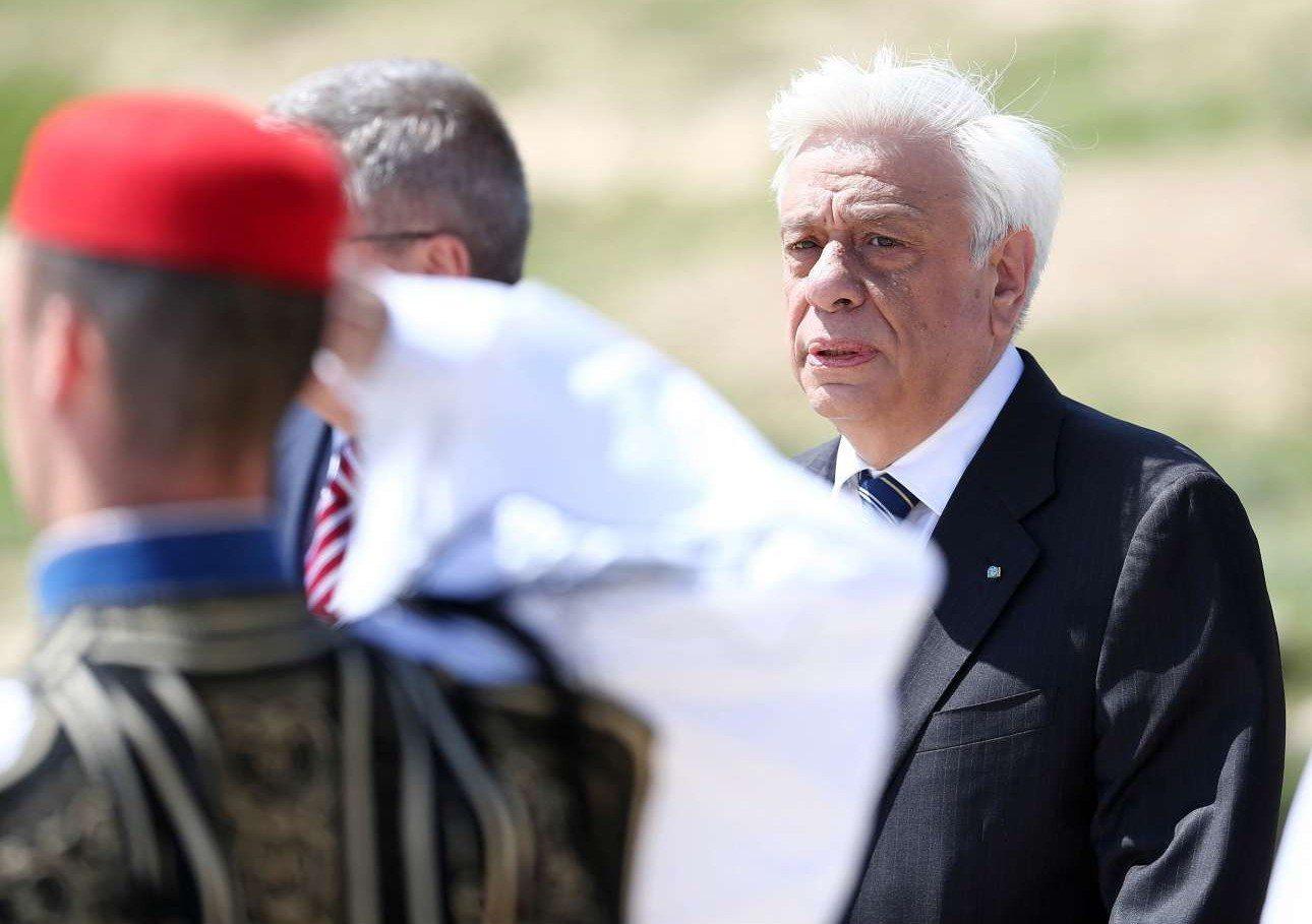 Ο Πρόεδρος της Δημοκρατίας, Προκόπης Παυλόπουλος, έδωσε το παρών στην τελετή στην Αρχαία Ολυμπία