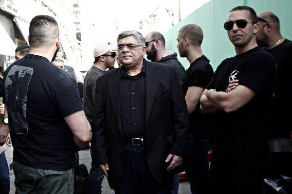 "Golden Dawn rally against Islam and refugees in Piraeus on Apr. 8, 2016 /  Συγκέντρωση της Χρυσής Αυγής κατά ""της ισλαμοποίησης της χώρας"", στον Πειραιά στις 8 Απριλίου 2016."