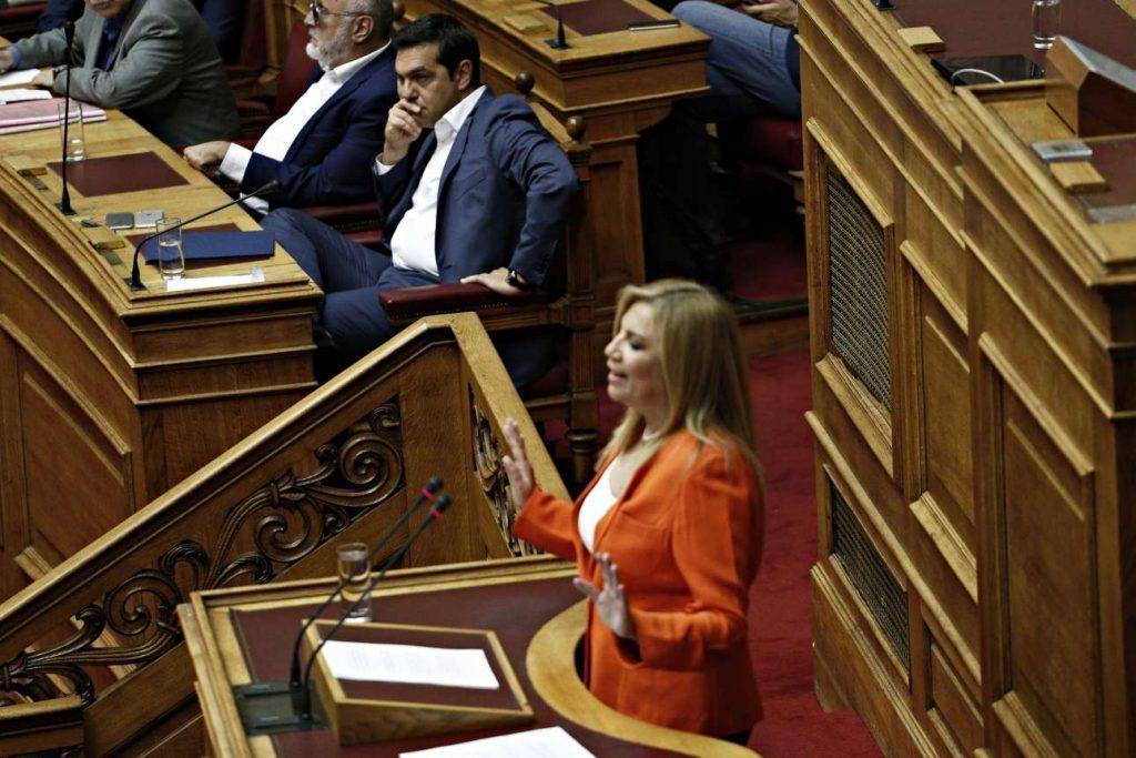 Η κυρία Γεννηματά στο βήμα της Βουλής (Alexandros Michailidis / SOOC)