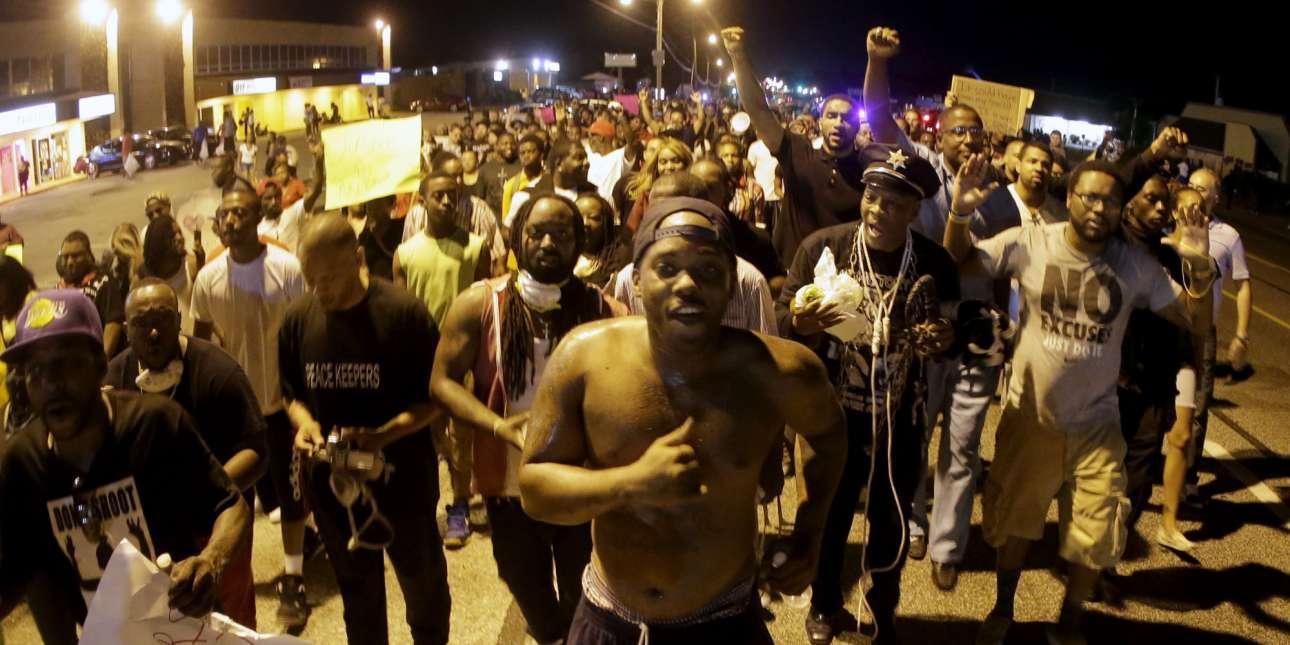Βίαιες διαδηλώσεις στο Μιζούρι το 2014 (twitter)
