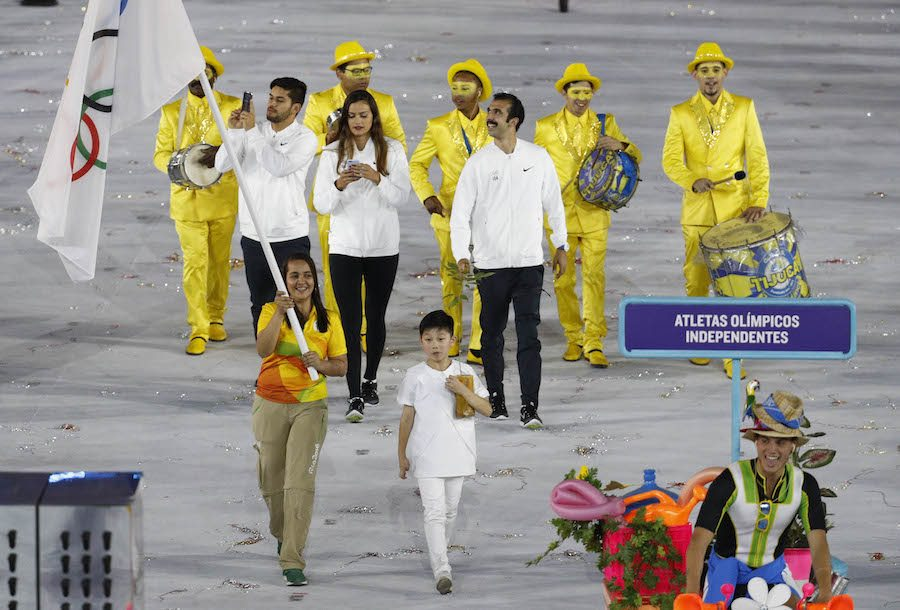 Η ομάδα που χειροκροτήθηκε περισσότερο (μετά τη Βραιλία), οι ανεξάρτητοι αθλητές
