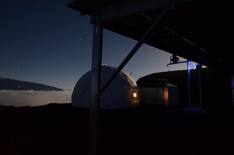 Νύχτα στο καταφύγιο του ηφαιστείου της Χαβάης