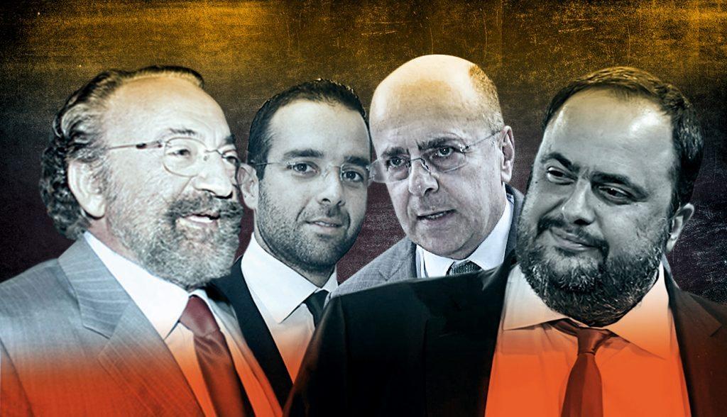 Αποτέλεσμα εικόνας για Μαρινάκης, Αλαφούζος, Κυριακού, Καλογρίτσας, οι τέσσερις πλειοδότες της δημοπρασίας.