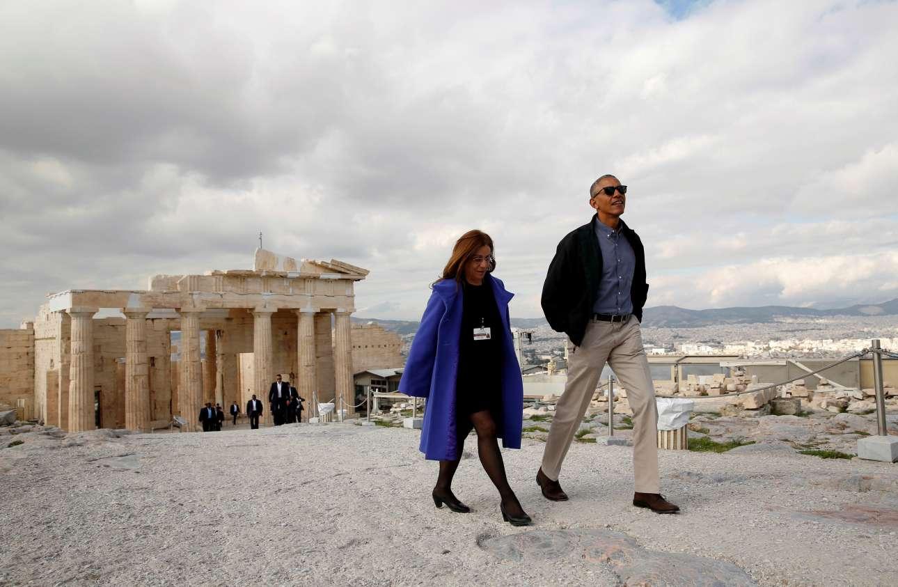 Ο 44ος πρόεδρος των ΗΠΑ στον Ιερό Βράχο