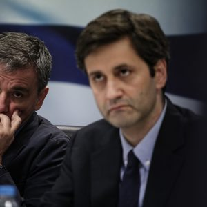 Press conference held by the Minister of Finance Euclid Tsakalotos and the Alternate Minister of Finance Giorgos Chouliarakis, in Athens, on May 26, 2016 / Συνέντευξη τύπου των υπουργών οικονομικών Ευκλείδη Τσακαλώτου και Γιώργου Χουλιαράκη, στην Αθήνα, στις 26 Μαϊου, 2016