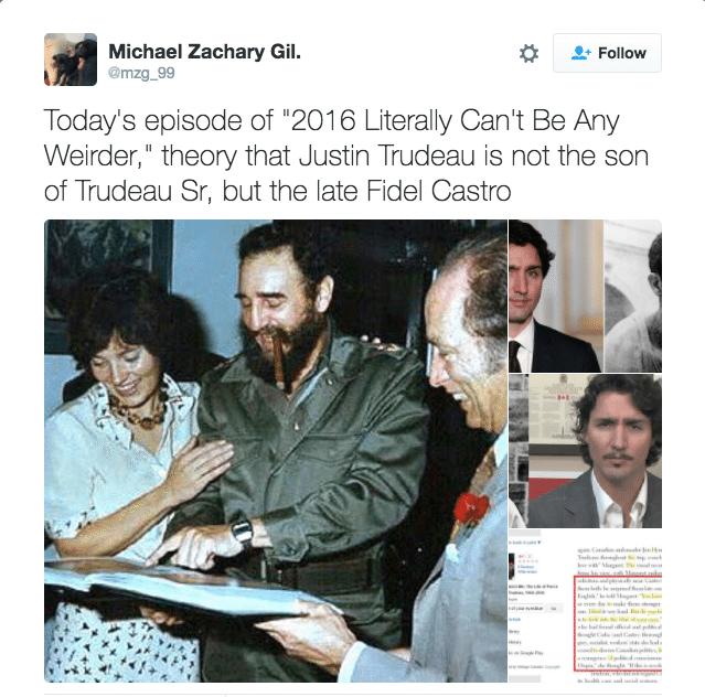 Η οικειότητα της Μάργκαρετ Τριντό με τον Φιντέλ Κάστρο είναι εμφανής σε αυτή τη φωτογραφία. Αρα αποδεικνύεται η θεωρία!