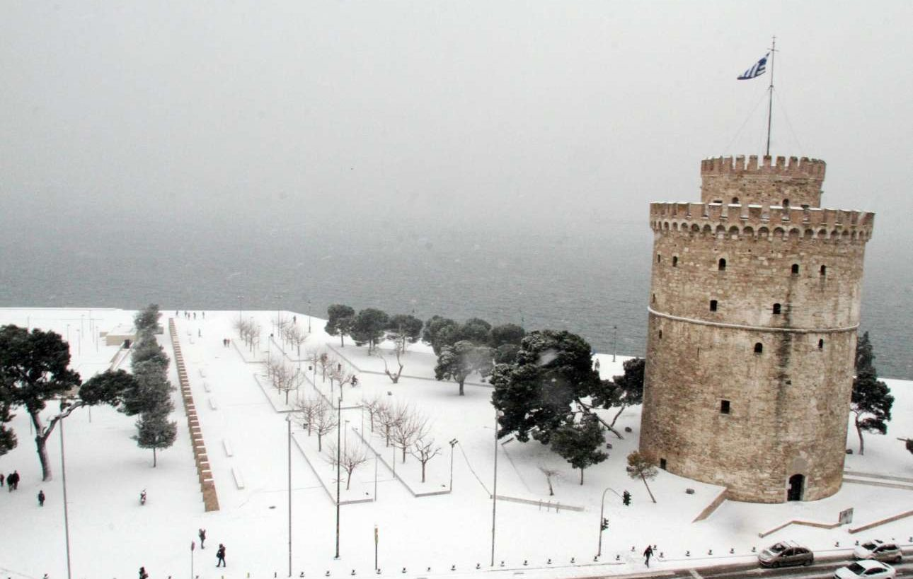 Κατάλευκο περιβάλλον στον Λευκό Πύργο.