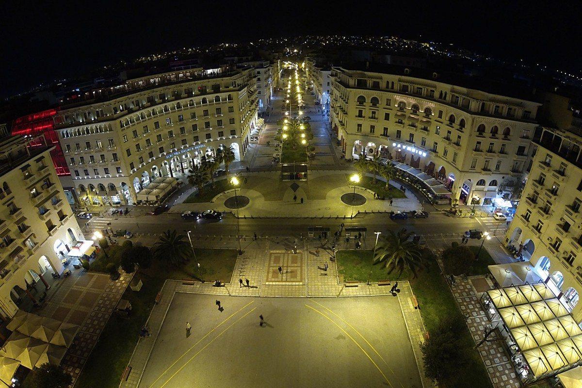 Η πλατεία Αριστοτέλους στη Θεσσαλονίκη με το διάσημο χαρακτηριστικό σχήμα μπουκαλιού