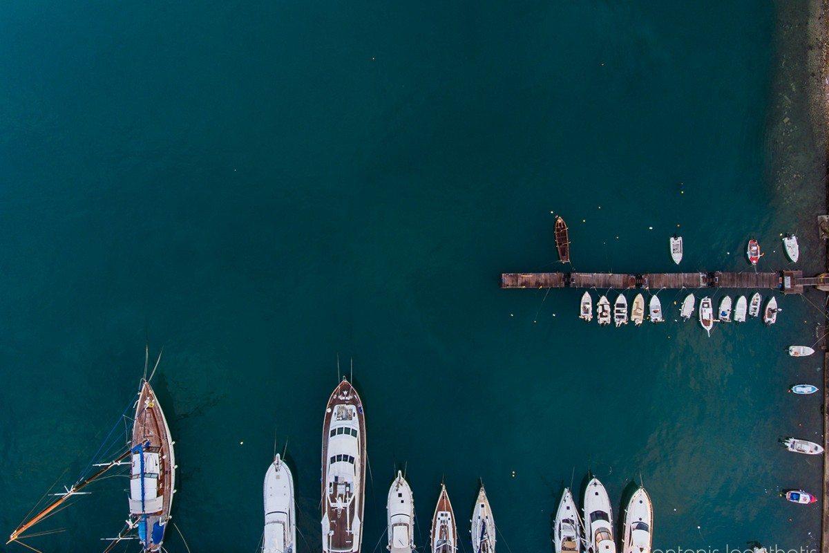 Το λιμάνι της Χίου μοιάζει σαν ζωγραφιά από ψηλά
