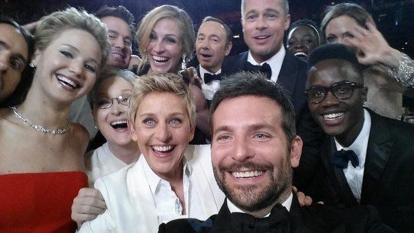 Ellen-DeGeneres-enlisted-Bradley-Cooper-long-arm-help-shoot