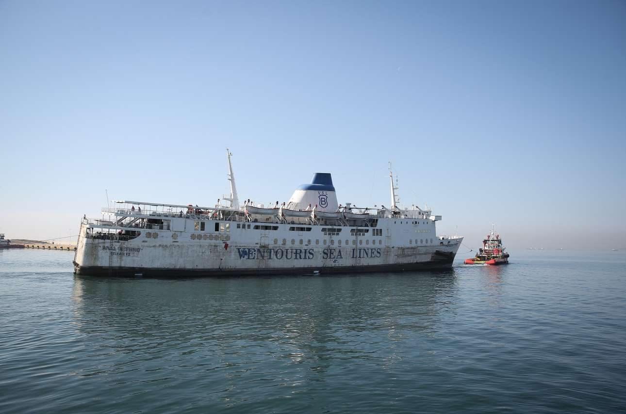 Το πλοίο είχε κατασχεθεί για οφειλές από το ΝΑΤ, ενώ τη διαχείριση του ναυαγίου είχε αναλάβει ο ΟΛΠ