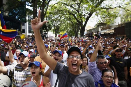 South-America-Divided-Over-Venezuela-Protests-and-A-Student-Leader-Emerges