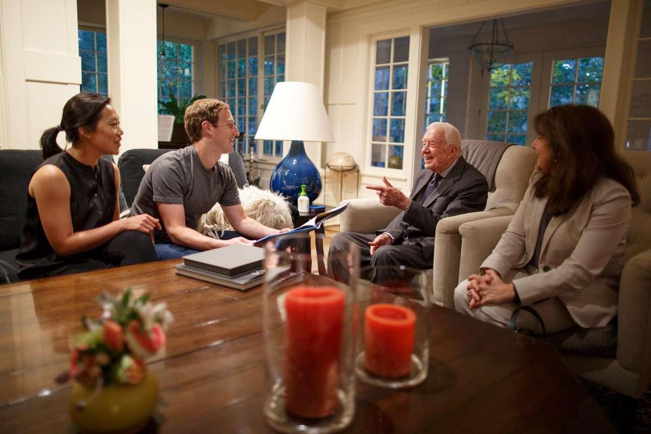 Σεπτέμβριος 2016. Εχοντας στο πλευρό του την Πρισίλα, επισκέπτεται τον Τζίμι Κάρτερ, 39ο πρόεδρο των ΗΠΑ