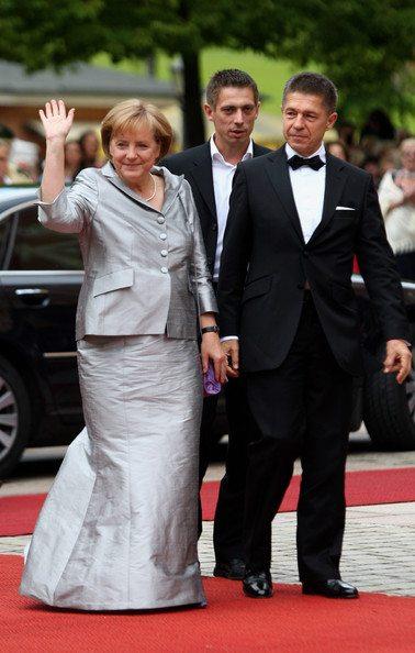 Angela+Merkel+Joachim+Sauer+Bayreuth+Festival+fruSGDrilIml