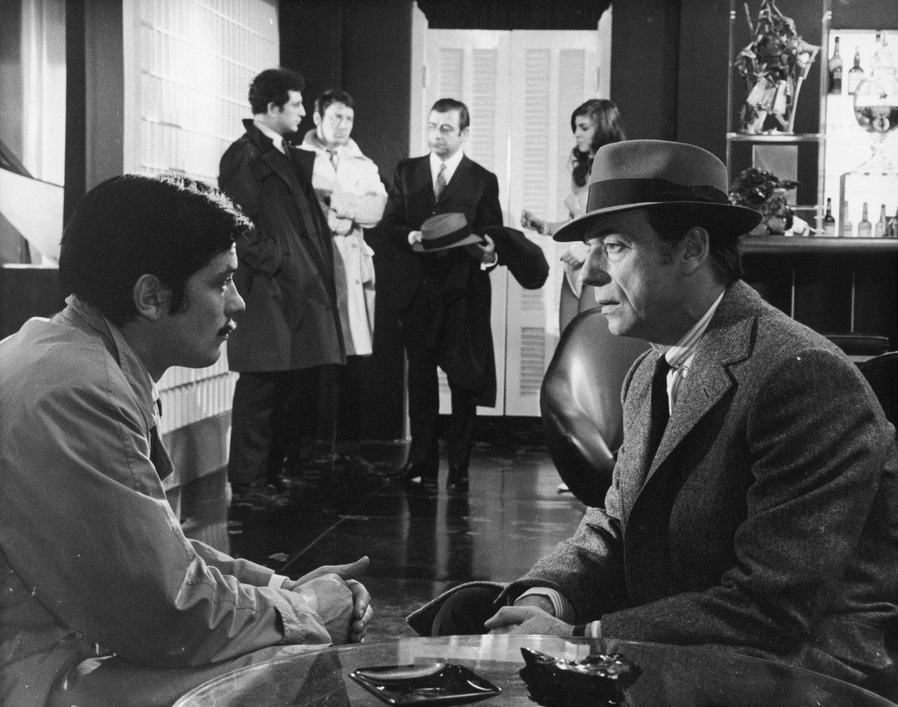 Με τον Υβ Μοντάν στο «Le cercle rouge» (1970)