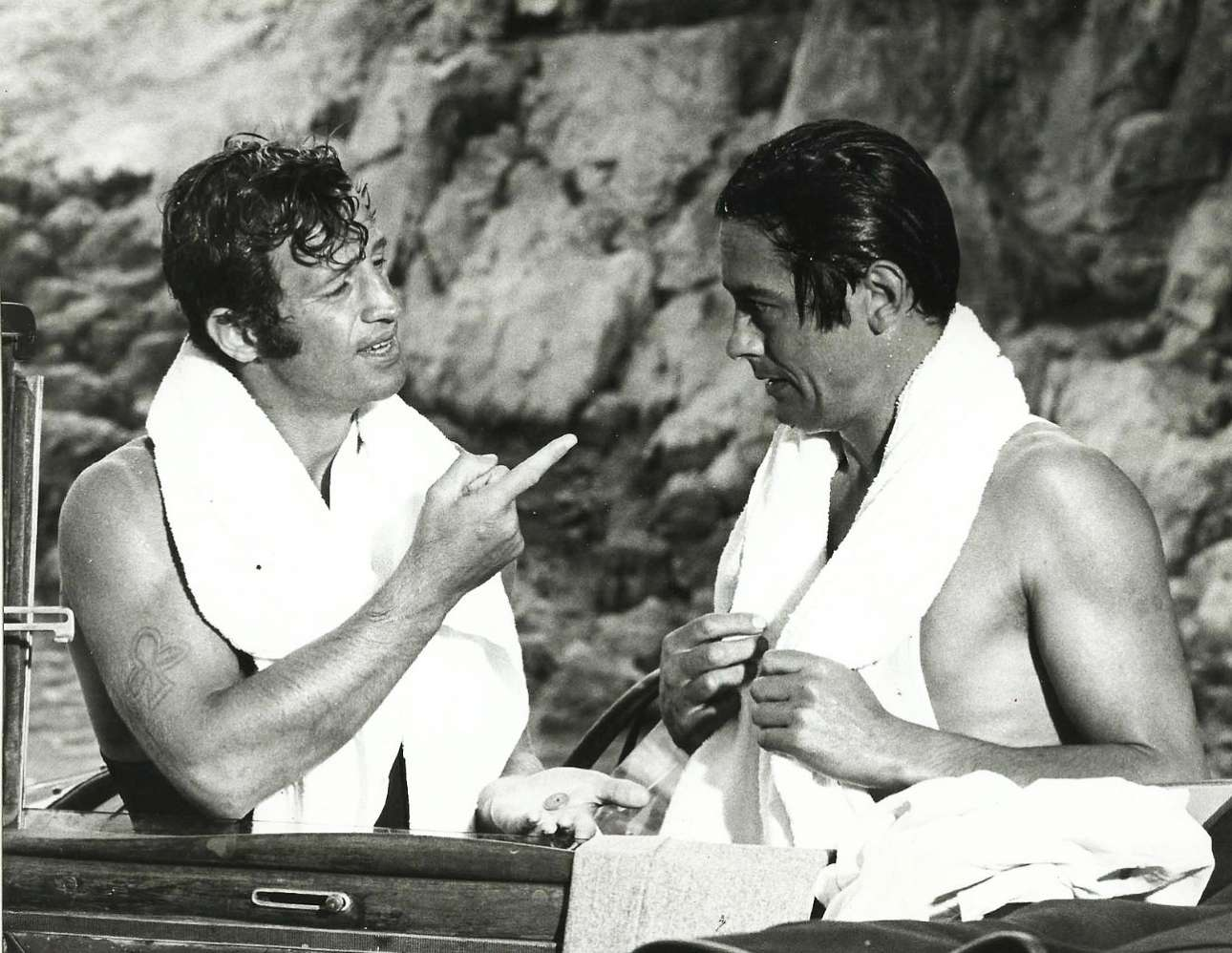Ο Ντελόν με τον Ζαν-Πολ Μπελμοντό στο «Borsalino» (1970)