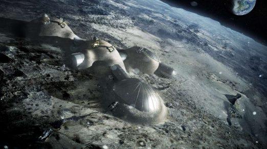 Το σχέδιο της βάσης που θέλει να φτιάξει ο Ευρωπαϊκός Οργανισμός Διαστήματος στην Σελήνη. Credit: ESA