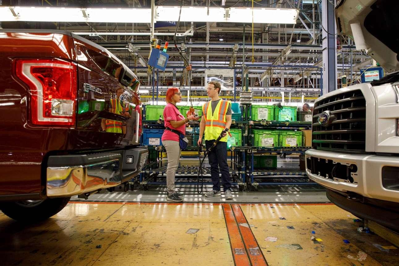 Απρίλιος 2017. Δουλεύοντας στη γραμμή παραγωγής στο θρυλικό εργοστάσιο της Ford στο Ντιτρόιτ