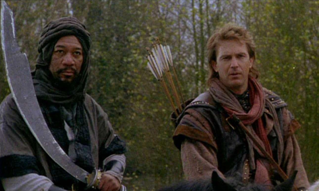 Με τον Κέβιν Κόστνερ στο «Ρομπέν των Δασών» (1991)