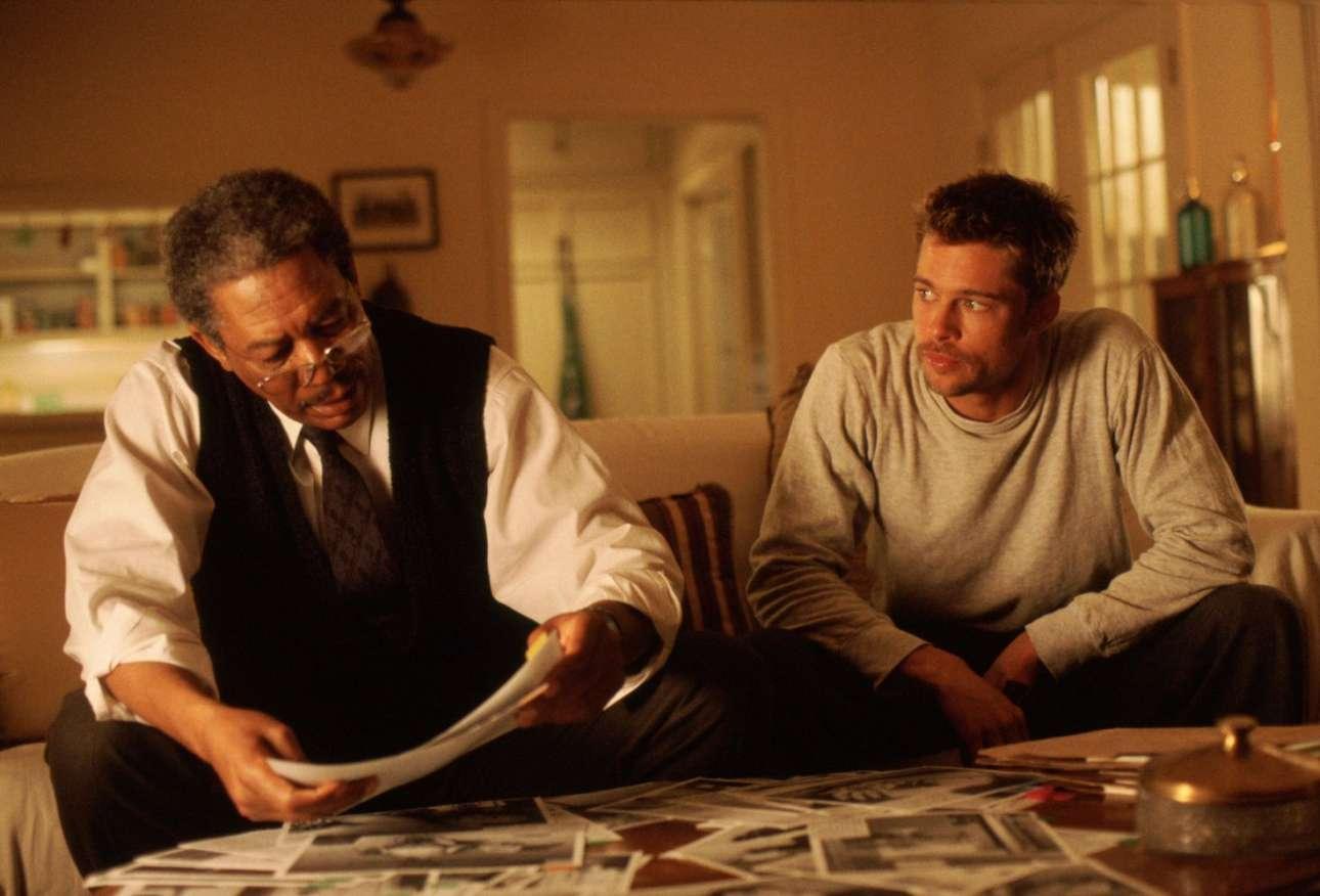 Με τον Μπραντ Πιτ στο «Seven» του Ντέιβιντ Φίντσερ το 1995.