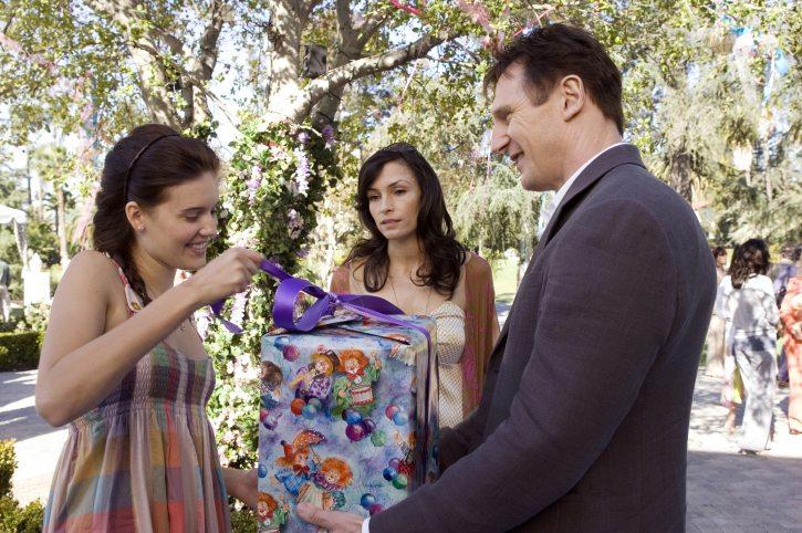 Ο αρχετυπικός προστάτης. Ο Λάιαμ Νίσον ως Μπράιαν Μιλς στην πρώτη «Αρπαγή» (2008) με τις Μπάγκι Γκρέις και Φάμκε Τζάνσεν. Μετά του την ξαναπήραν άλλες δυο φορές