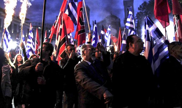 Golden dawn party members and supporters held a march, commemorating the capture of Istanbul from the Othoman Turks, on this day on 1453. In Athens, on May 29, 2017 / Πορεία της χρυσής αυγής με αφορμή την άλωση της Πόλης. Αθήνα, 29 Μαΐου, 2017
