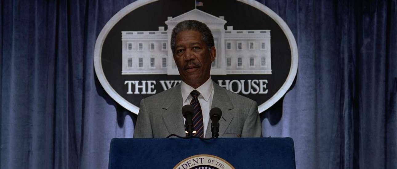 Ως πρόεδρος των ΗΠΑ στο «Deep Impact» (1998)