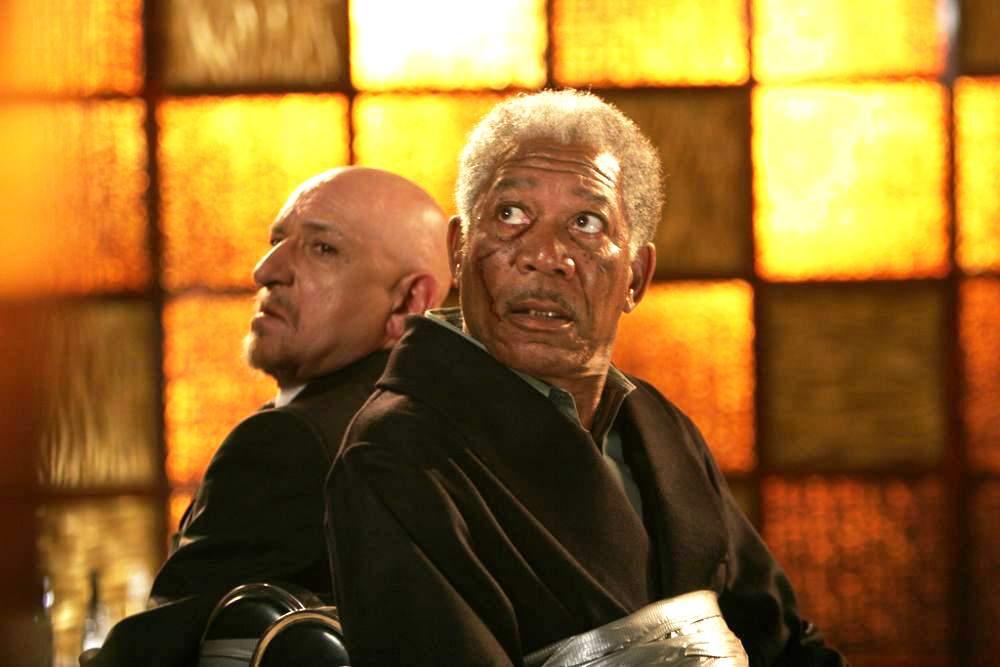 Με τον Μπεν Κίνγκσλεϊ, ως βασιλιάδες του υποκόσμου, στο «Lucky Number Slevin» (2006)