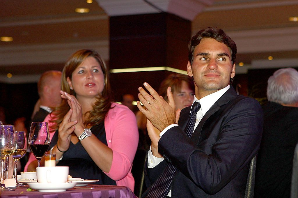 LONDON, ENGLAND - JULY 05: Mirka Federer and Roger Federer attend the Wimbeldon Winners Party at the Hotel Intercontinental on July 5, 2009 in London, England. (Photo by Julian Finney/Getty Images)