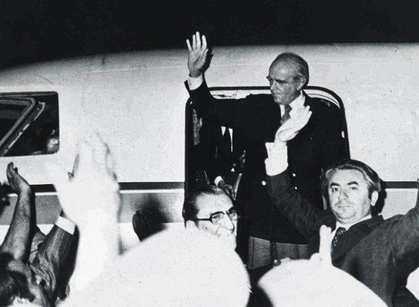 Ο Κωνσταντίνος Καραμανλής φτάνει στην Αθήνα