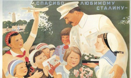 Soviet-Poster-Stalin-with-Children