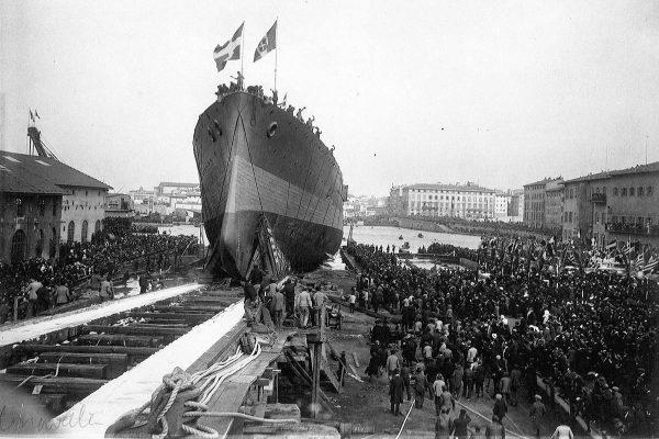Λιβόρνο, 1911. Η Ελλάς παραλαμβάνει το «Αβέρωφ»