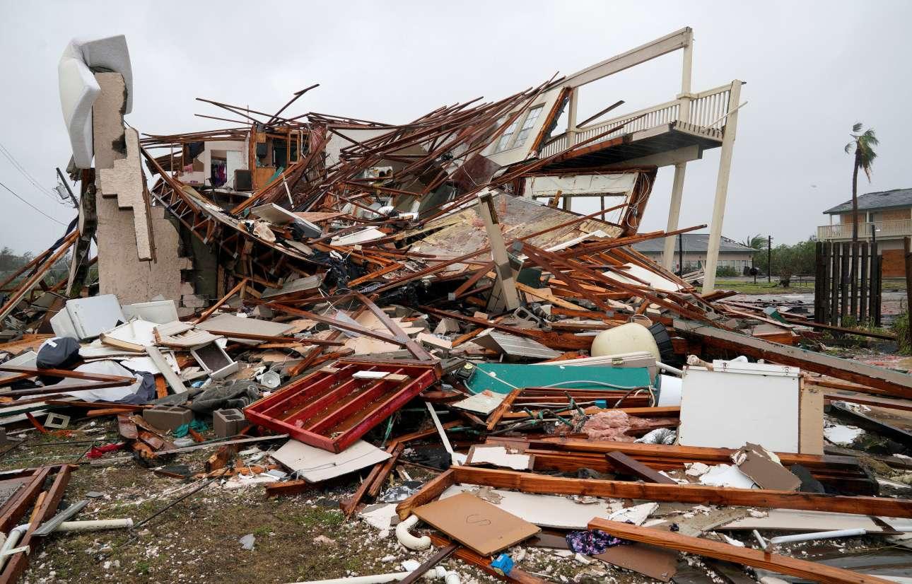 Η καταστροφή από το πέρασμα του Χάρβεϊ ήταν ολοκληρωτική σε πολλές περιπτώσεις