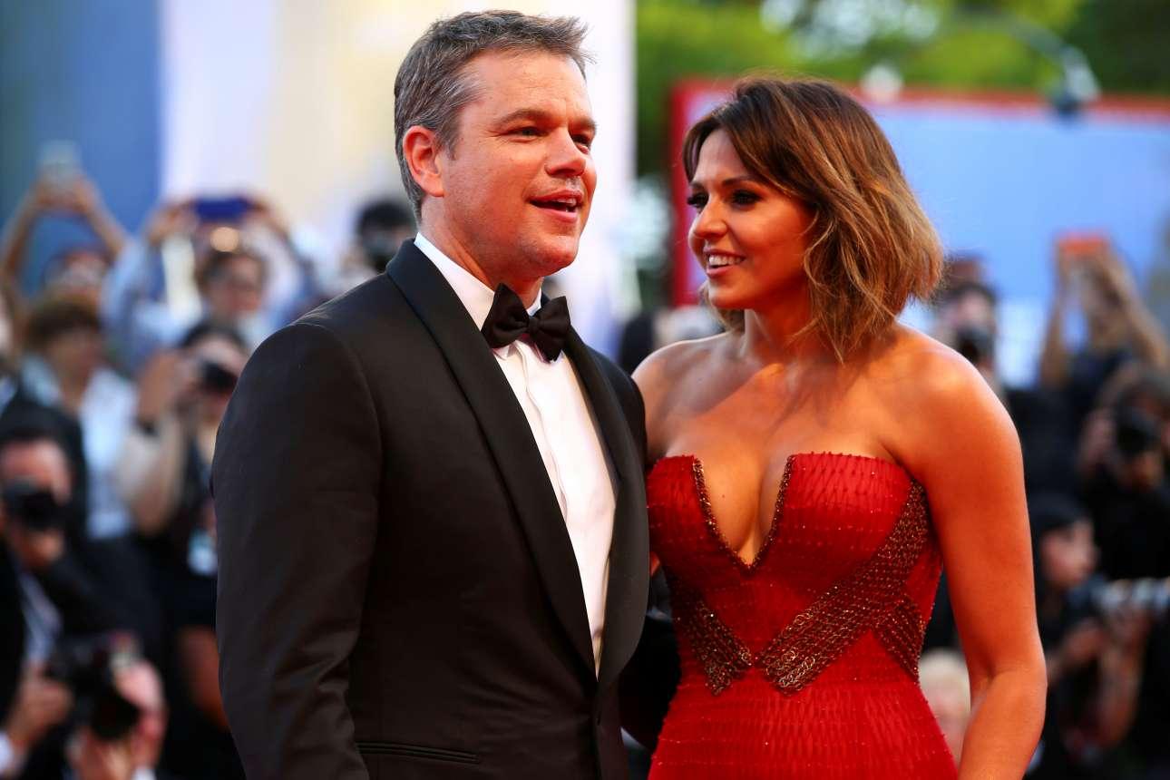 Ο Ματ Ντέιμον μαζί με την εντυπωσιακή σύζυγο του Λουτσιάνα στο κόκκινο χαλί