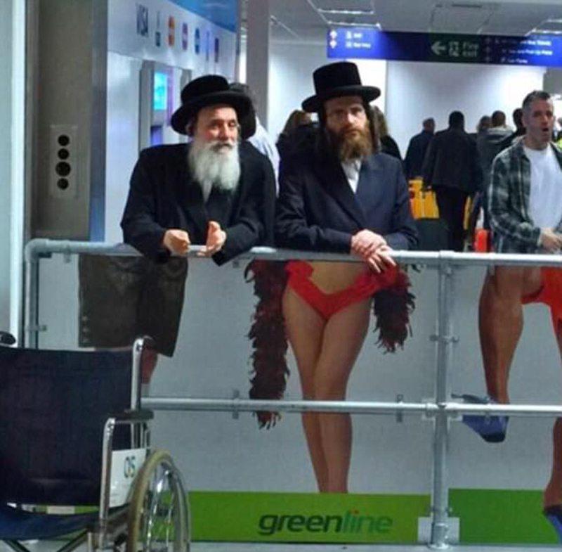 Μία ατυχής αλλά παράλληλα κωμική τοποθέτηση διαφημιστικής αφίσας στο αεροδρόμιο του Τελ Αβίβ
