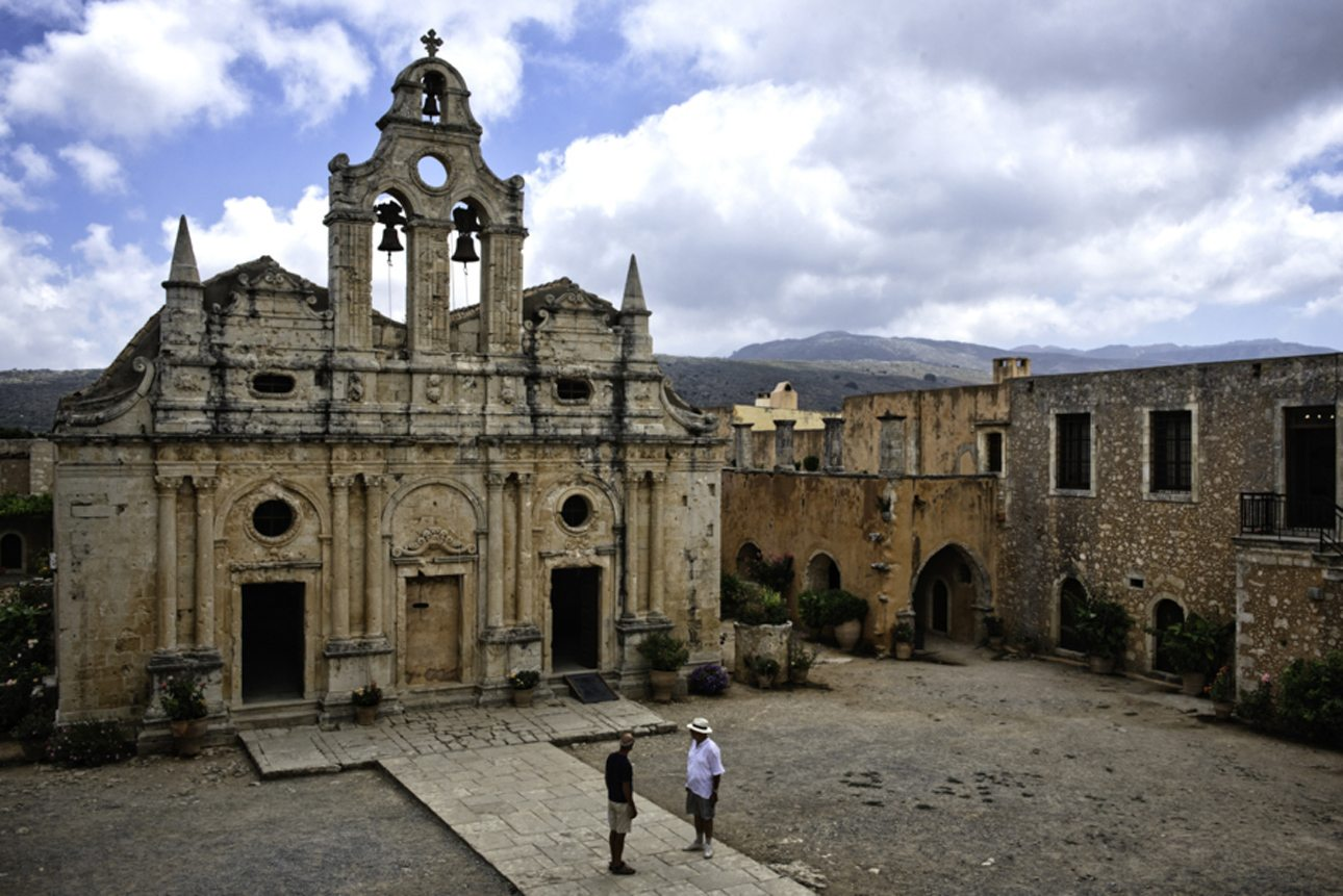 Ατμοσφαιρική φωτογραφία της Μονής Αρκαδίου στην Κρήτη. «Από τις τραγικότερες και ηρωικότερες στιγμές της Κρητικής επανάστασης. Ενα μέρος που πρέπει να πας» μας ενημερώνει ο φωτογράφος