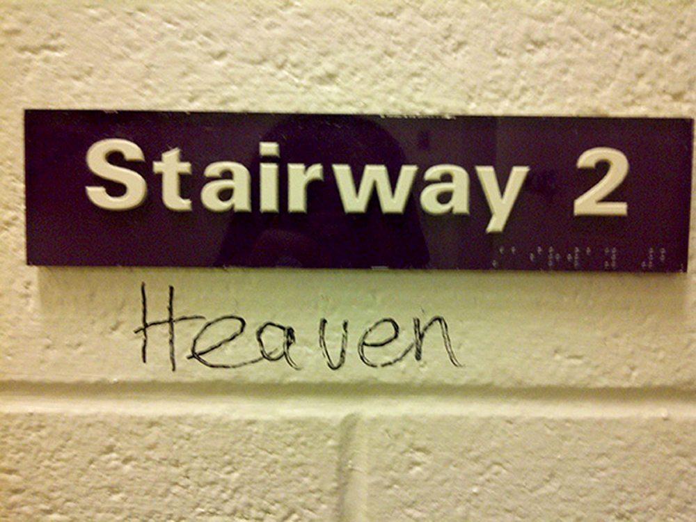 Οι στίχοι των  Led Zeppelin αποκτούν άλλη διάσταση σε ένα διάδρομο σχολείου