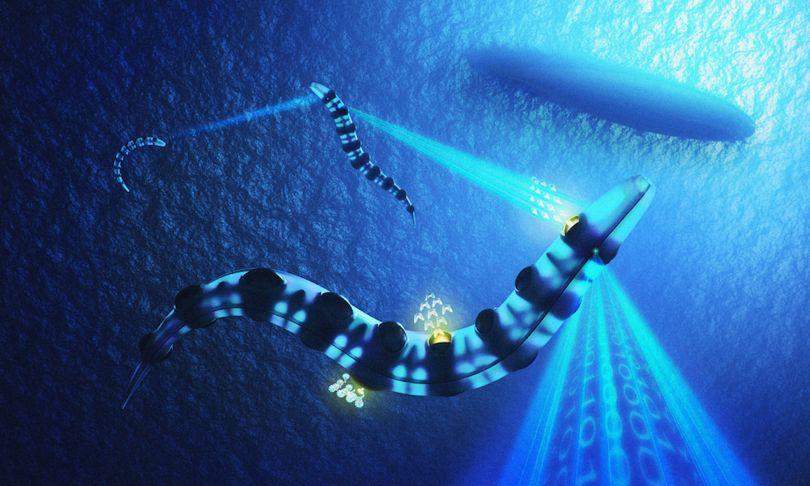 Τα drones του υποβρυχίου θα μοιάζουν με χέλια και θα εκτελούν αποστολές εξερεύνησης αλλά και επίθεσης σε αντίπαλα σκάφη (φωτό: Ministry of Defence UK)