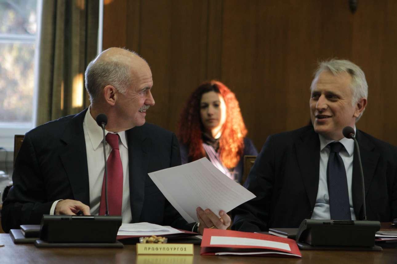 Γιώργος Παπανδρέου, Γιάννης Ραγκούσης σε υπουργικό συμβούλιο τον Ιανουάριο 2011 / INTIMEnews