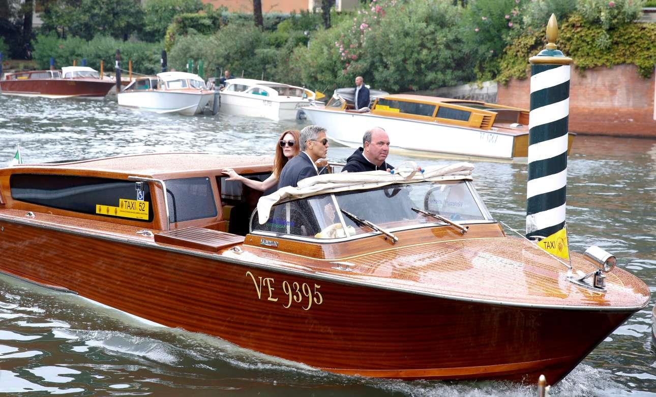 Ο Τζορτζ Κλούνεϊ καταφθάνει μαζί με την Τζούλιαν Μουρ στο 74ο Φεστιβάλ της Βενετίας, όπου θα προβληθεί η ταινία «Suburbicon»